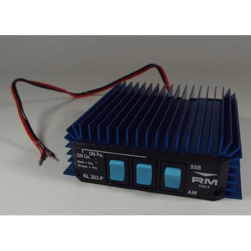 203 - Amplificateur de CB, 12 volts DC, push & pull, 100 watts AM, 200 watts SSB, input 12 watts